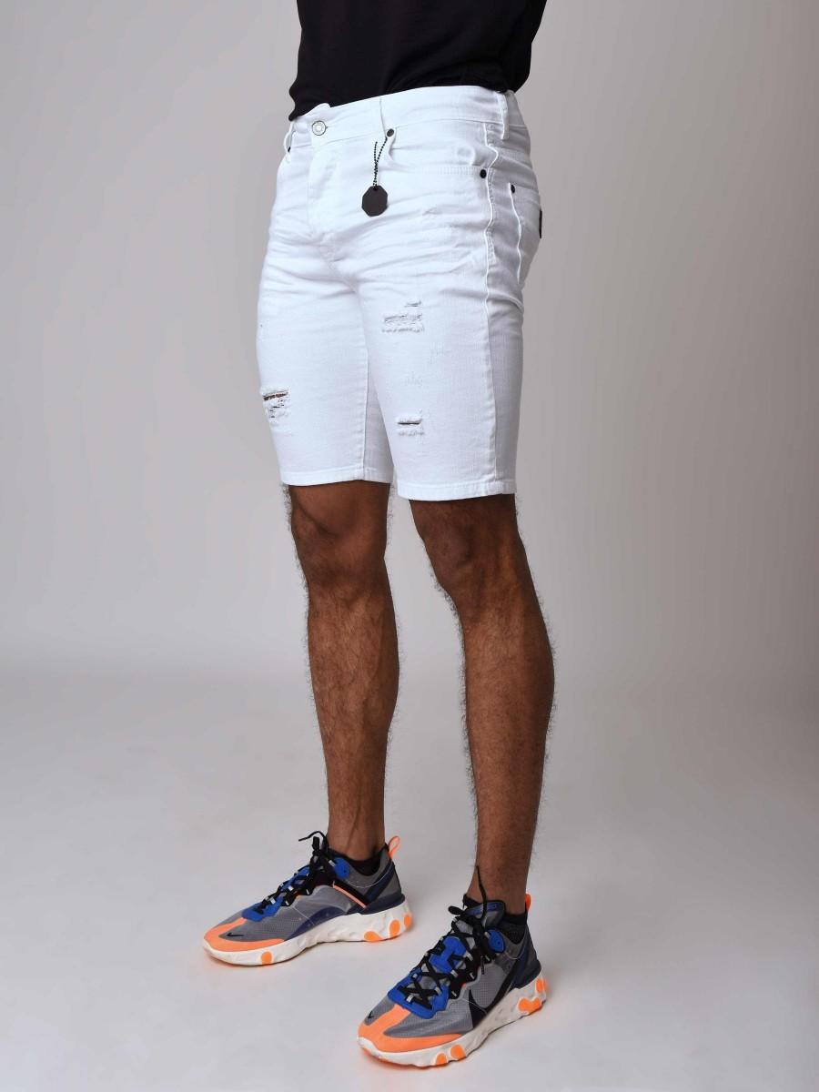 short en jean skinny effet d chir homme project x paris. Black Bedroom Furniture Sets. Home Design Ideas