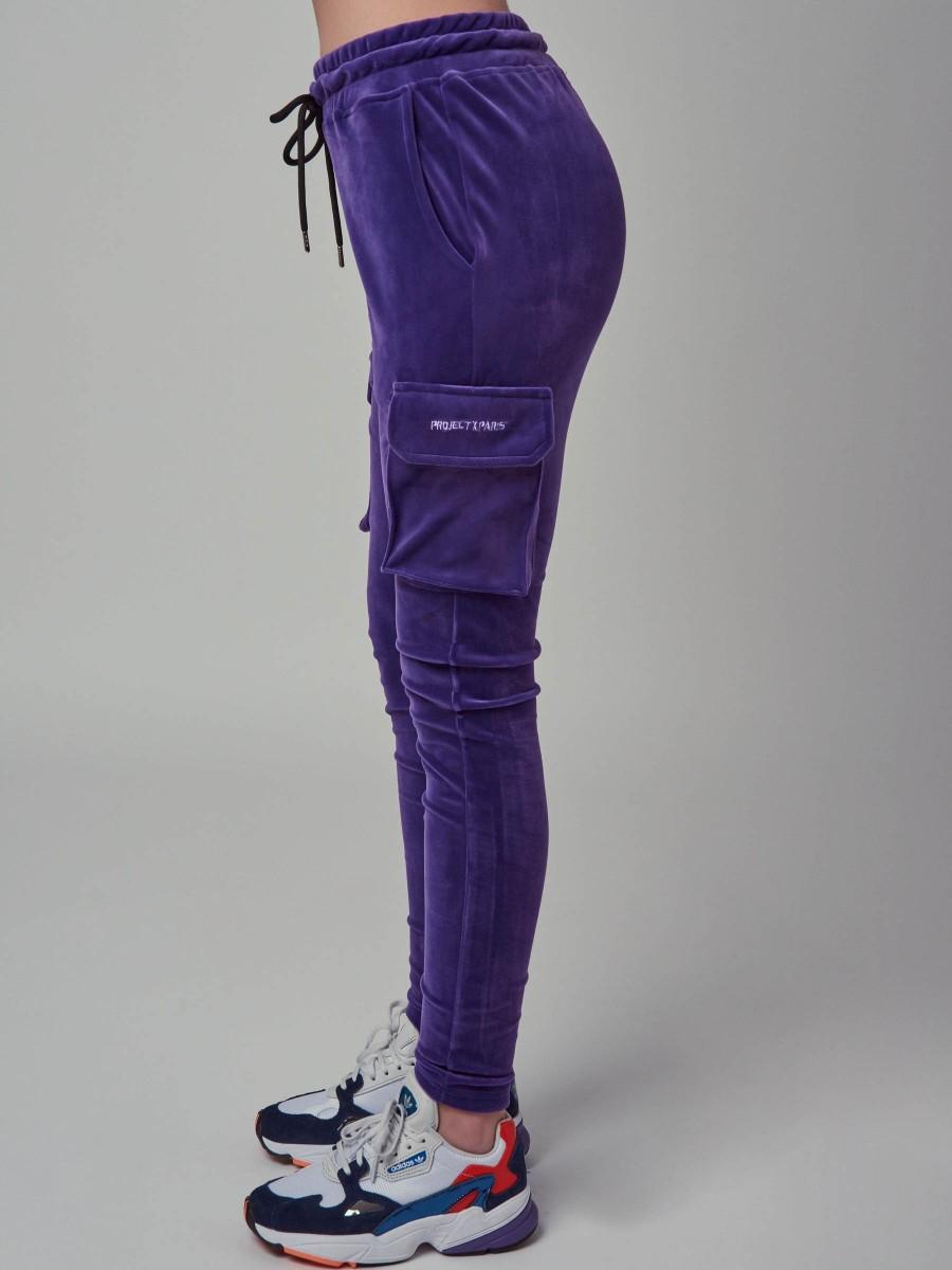 Pour femme velours survêtement à capuche taille plus haut de jogging Bas Pantalon