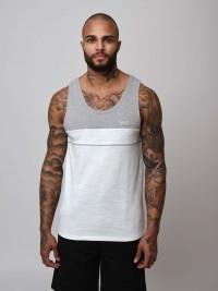T-shirt sans manches bicolore Homme Project X Paris