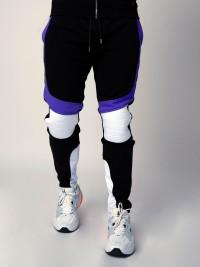 Pantalon de jogging velvet et fluo, empiècement biker Homme Project X Paris