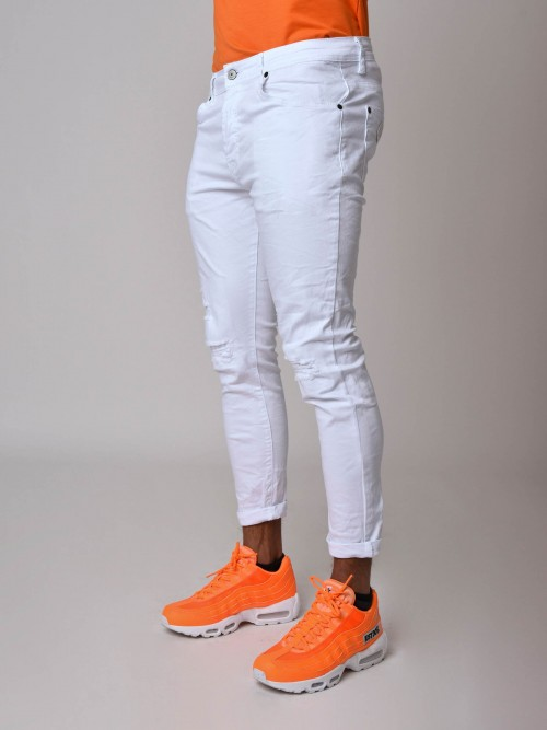 Skinny Jeans in White Project X Paris
