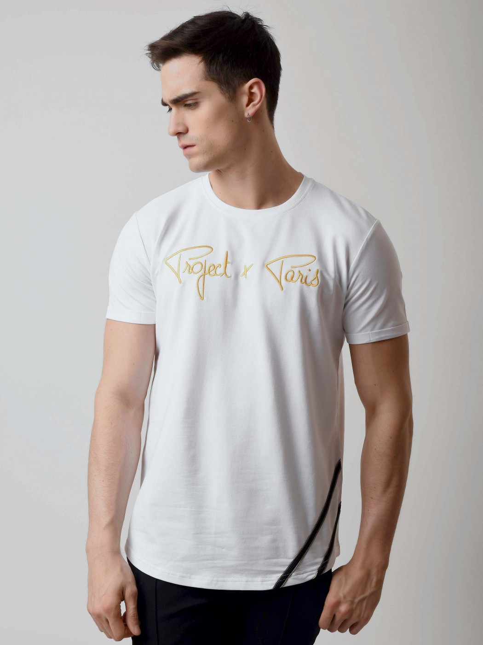 t shirt broderie logo gold homme project x paris. Black Bedroom Furniture Sets. Home Design Ideas