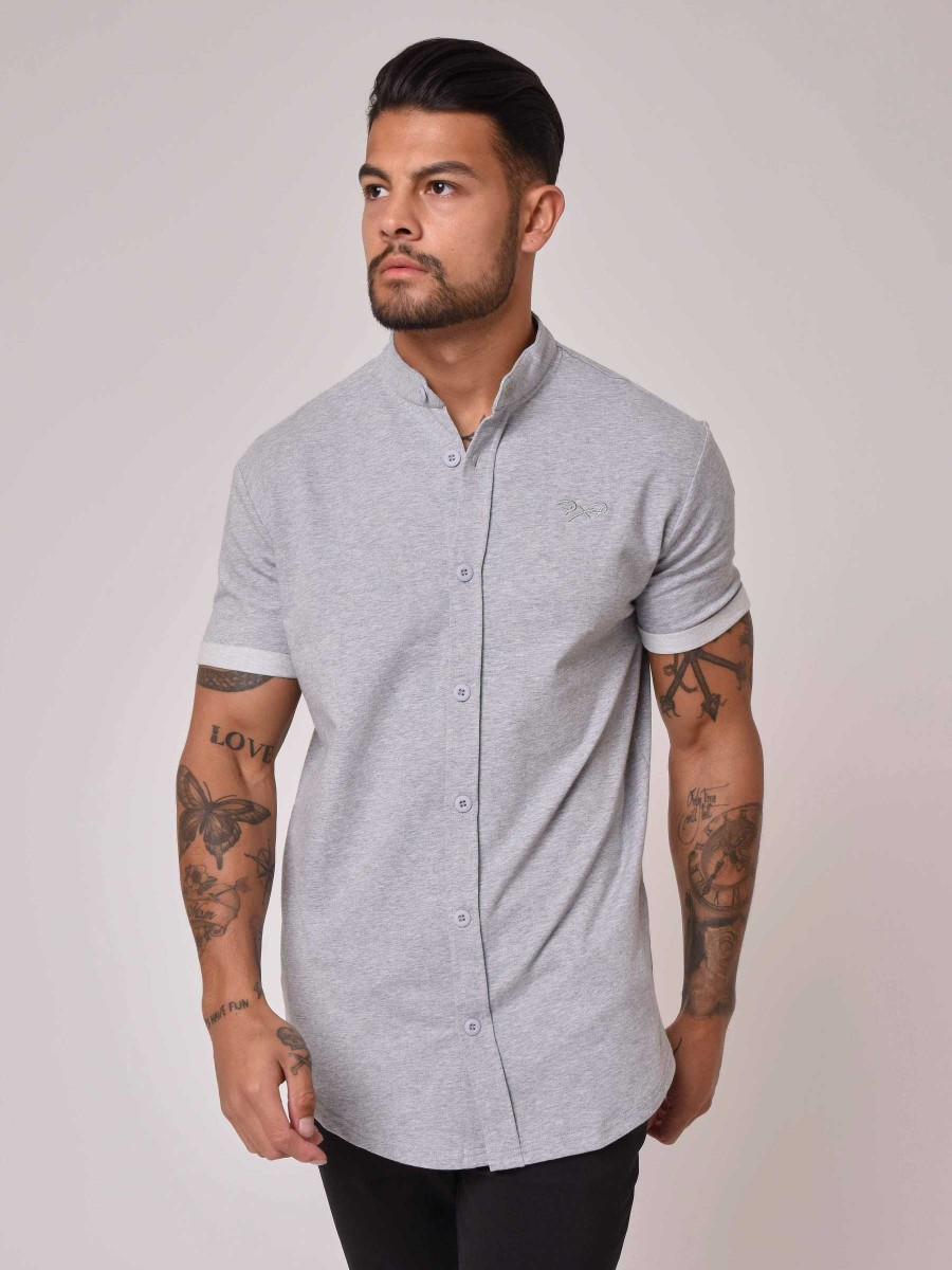85224f1613182 Accueil · Homme · Chemises · Chemise Manches courtes Col Mao. SOLDES