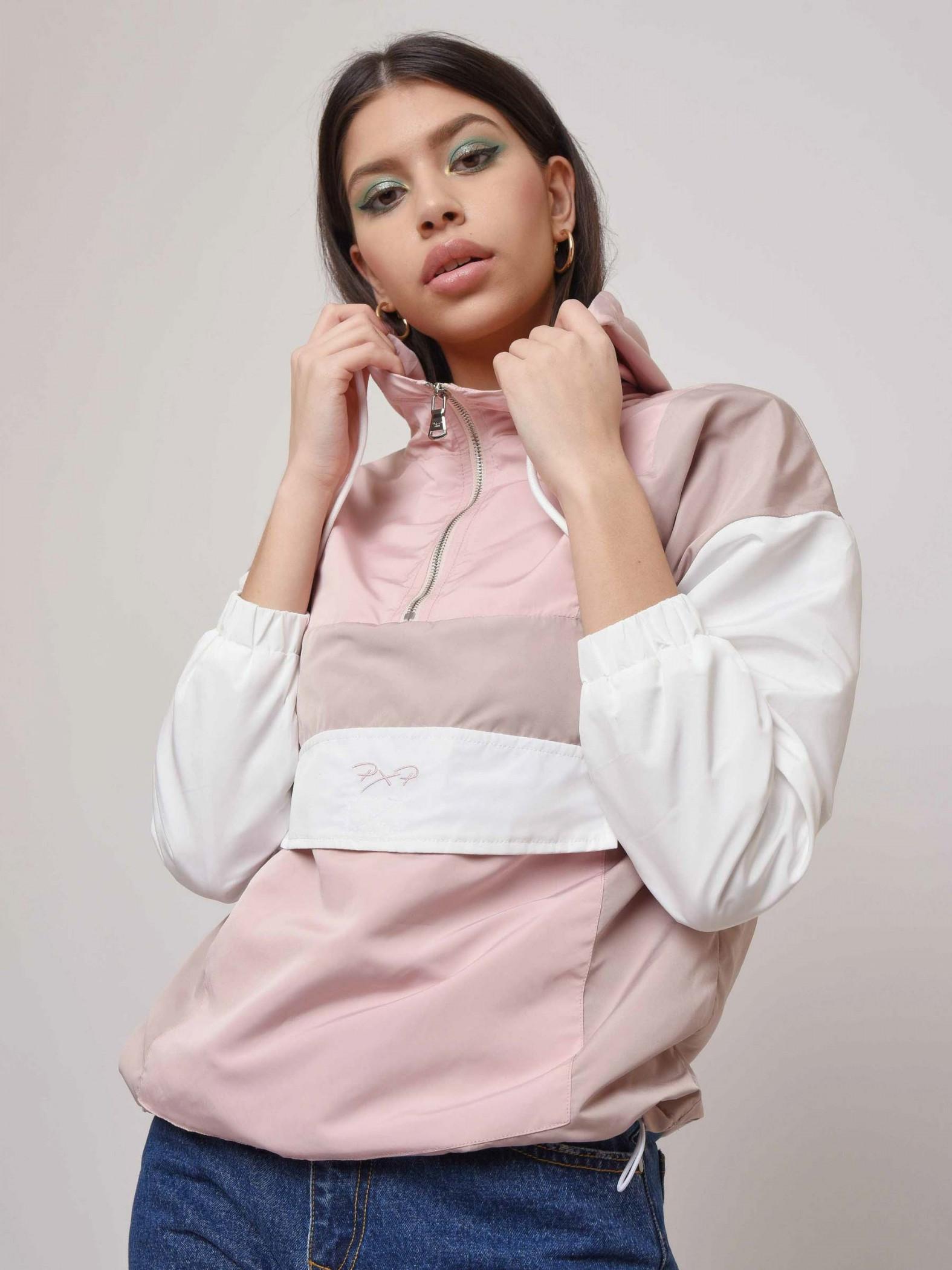 Coupe-vent à capuche et poche kangourou Femme Project X Paris