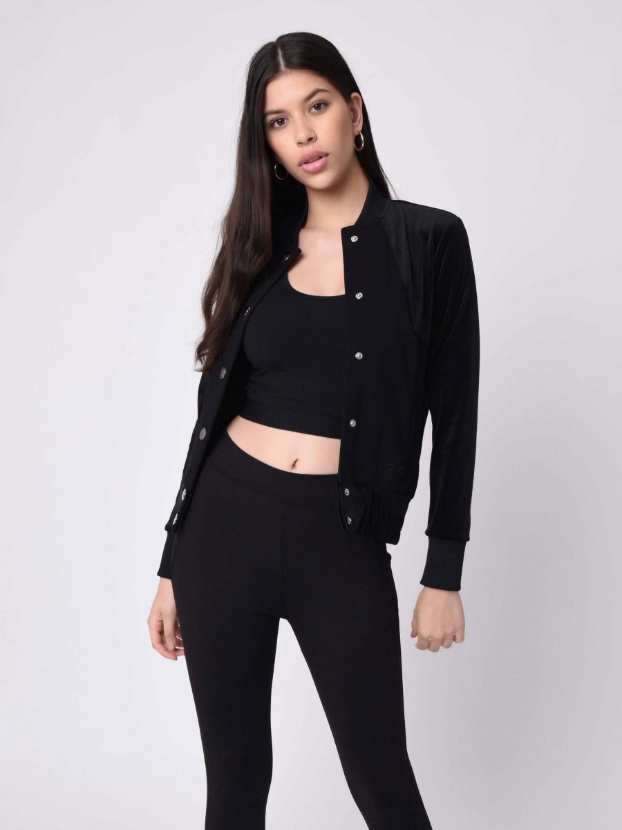 Velvet yoke Jacket