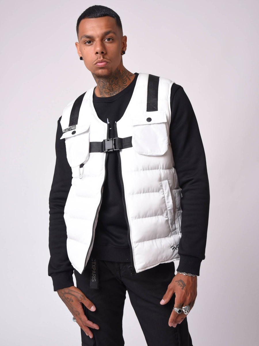 Quilted utility Vest