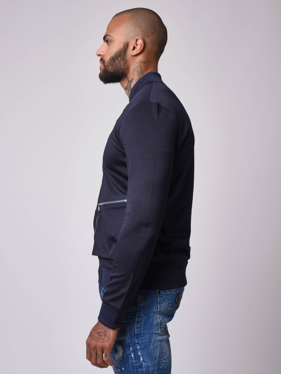 Double square Zip-pockets Teddy Jacket