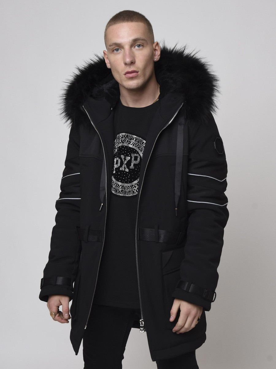 Basic long Parka with Straps and Piping