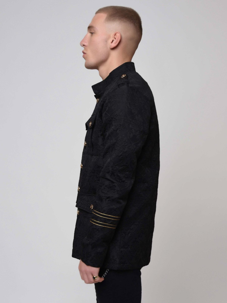 Officer Style Embossed Jacket