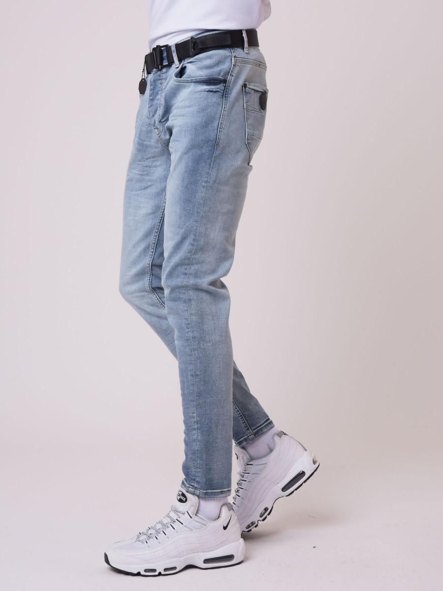 Basic slim Washed light Blue Jean