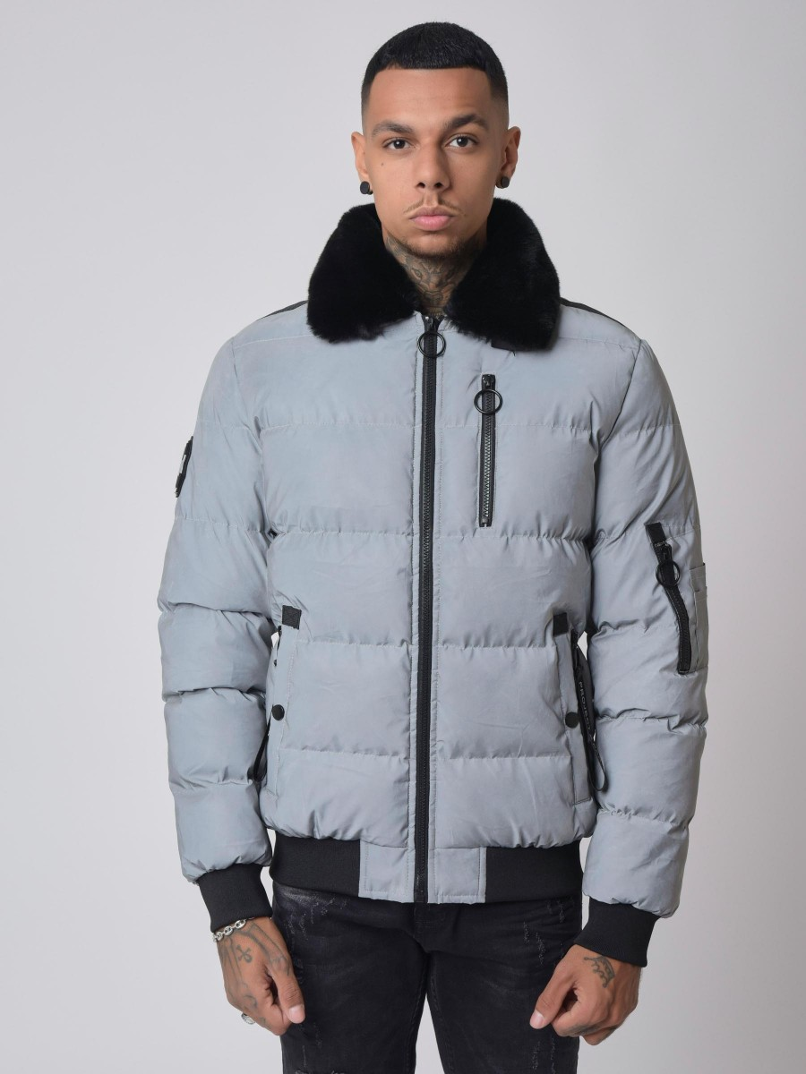 Winter Bomber with fur