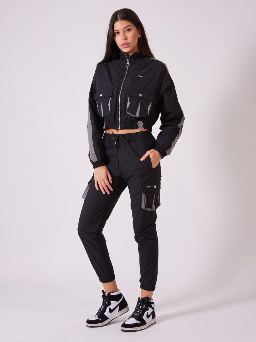 Veste courte poches oversize