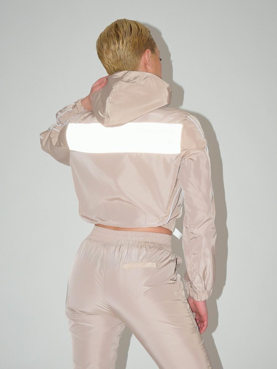 Veste à capuche piping contrasté