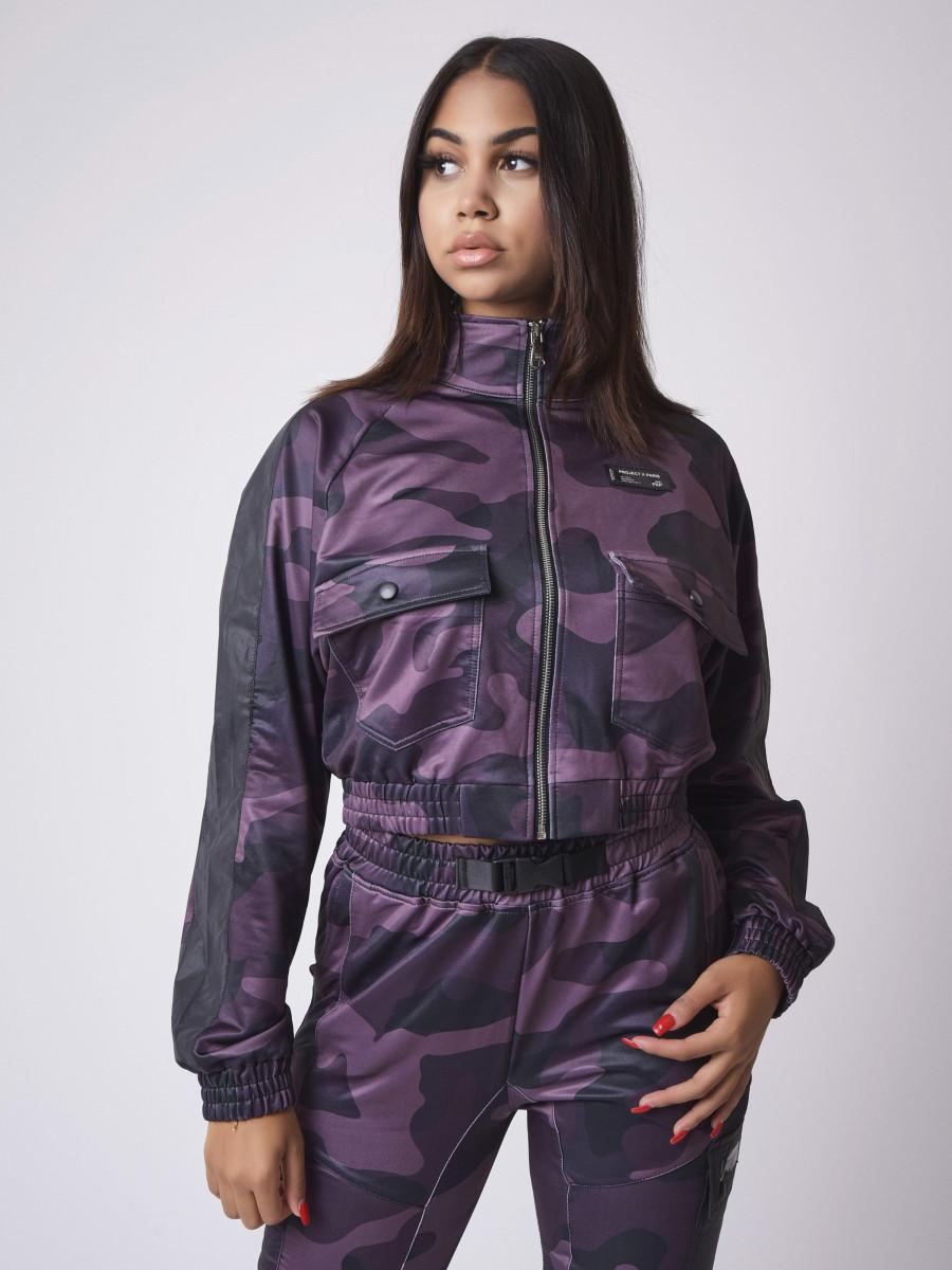 Short Camouflage Pattern Jacket