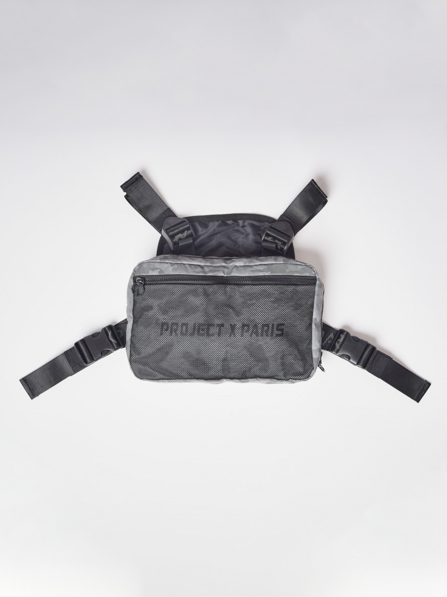 "Reflective Camo Utility Chest Bag with Mesh Details ""CAMO REFLECT"""