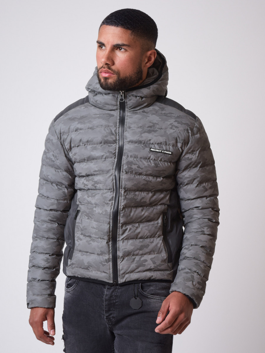 Camouflage Reflective quilted Winter Jacket