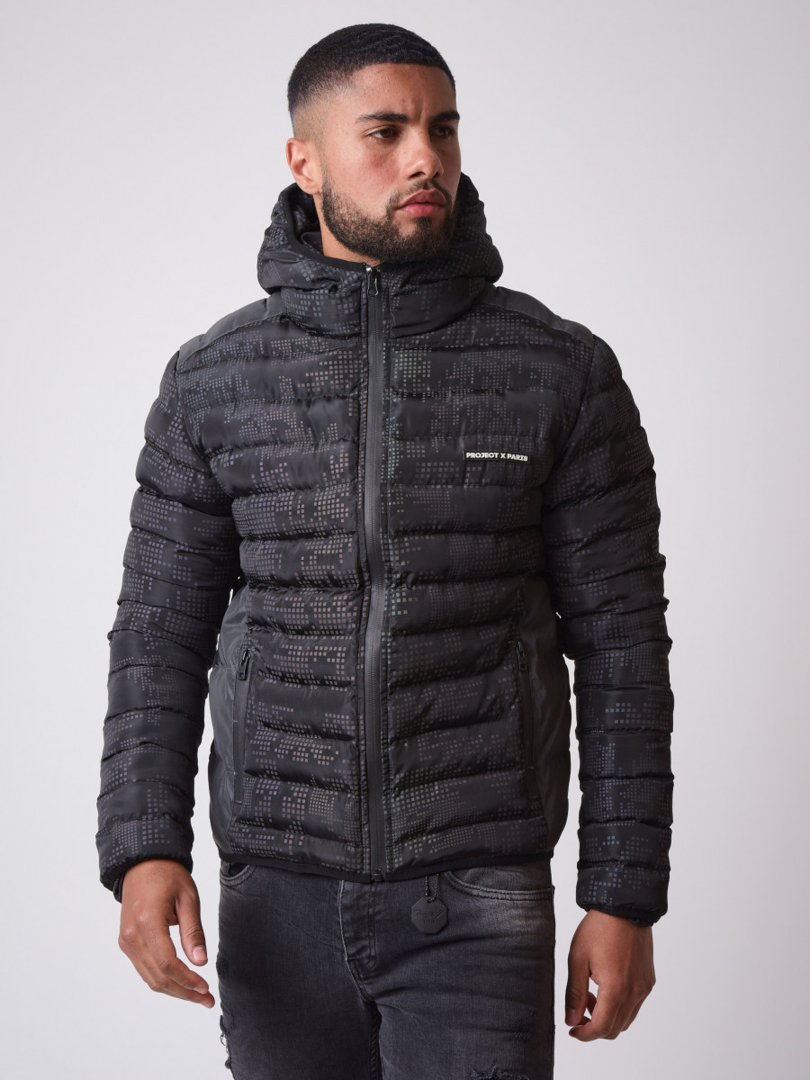 Pixel Reflective quilted Winter Jacket