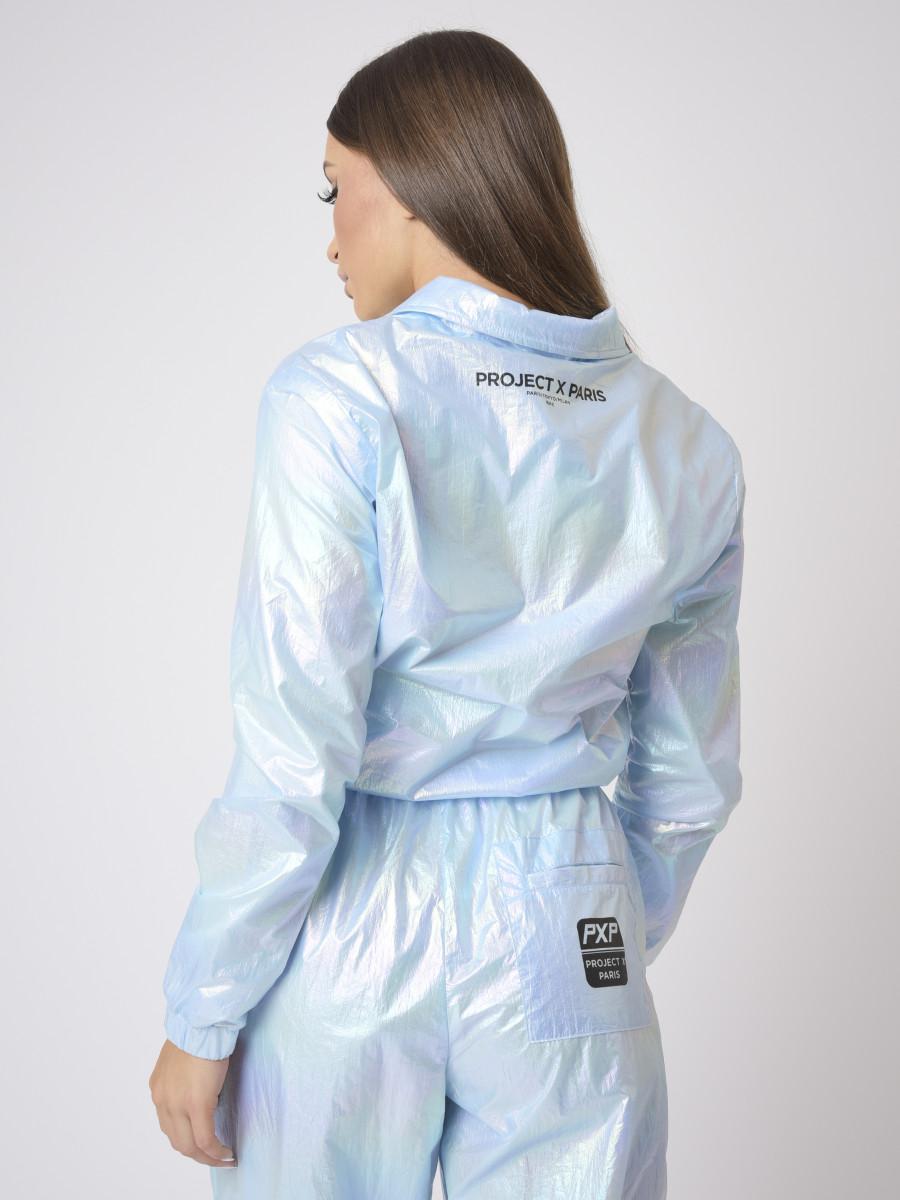 Short iridescent jacket