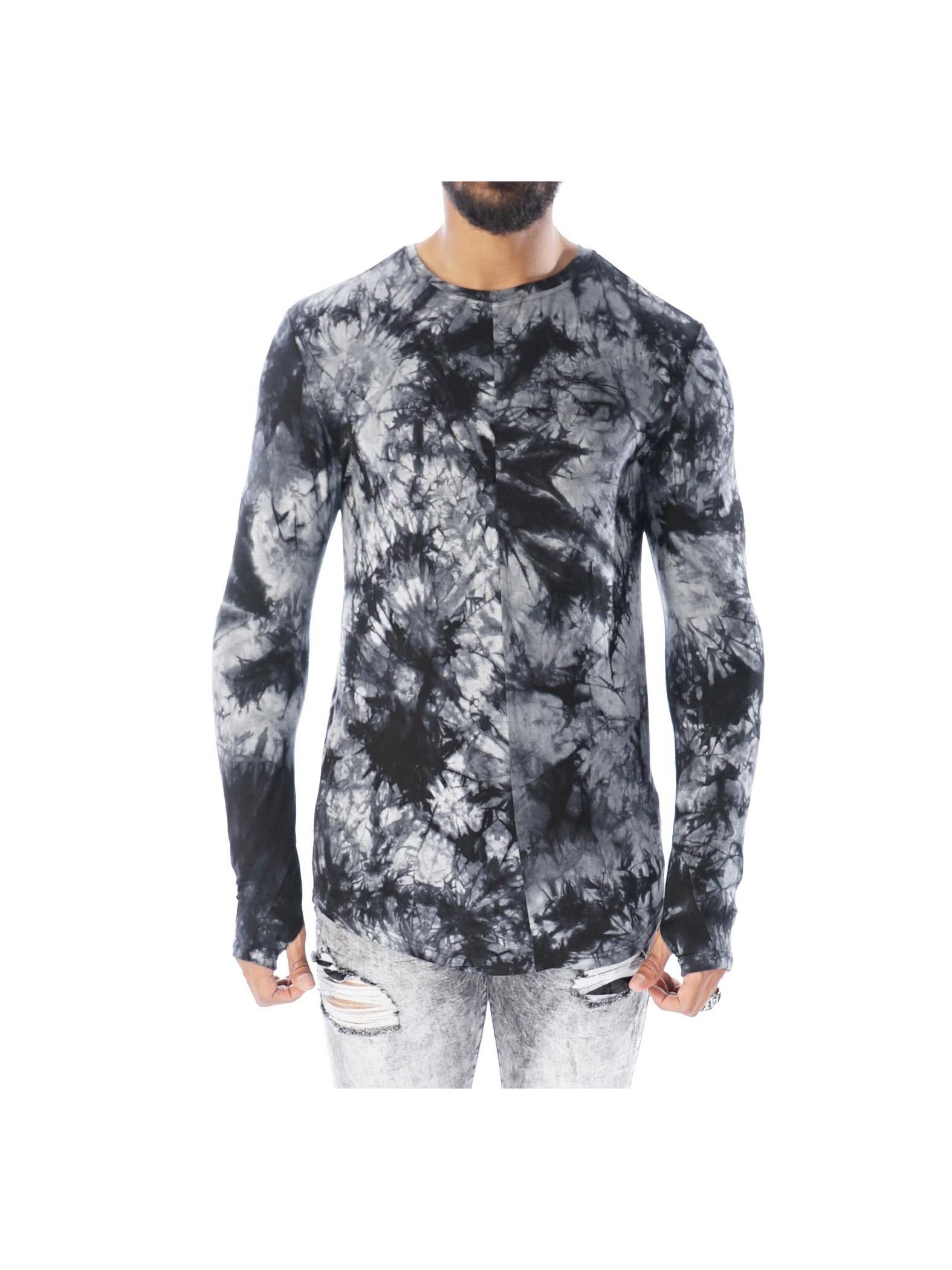 long sleeved dye tie tee shirt homme project x paris 88162232. Black Bedroom Furniture Sets. Home Design Ideas