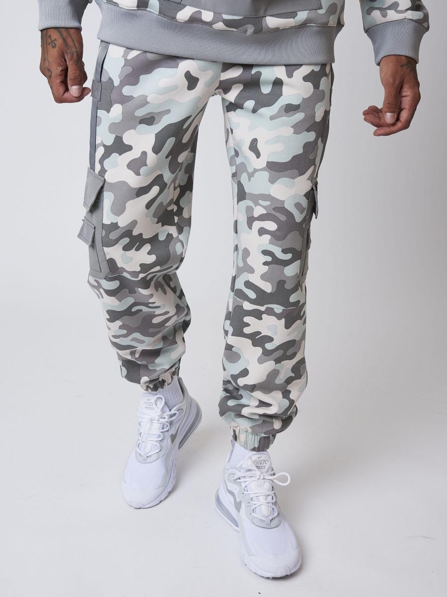 Camo-print Jogger with Reflective Pockets