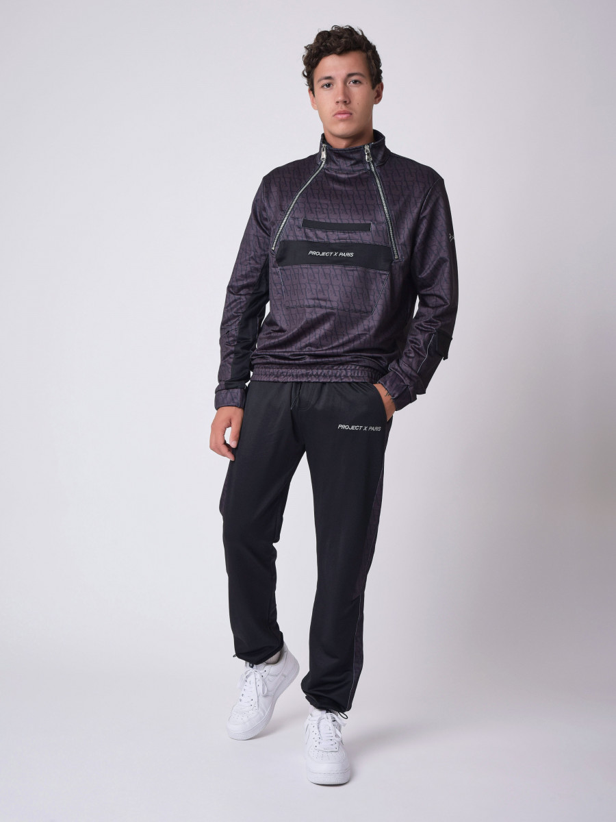 Sweat style coupe vent motif monogramme