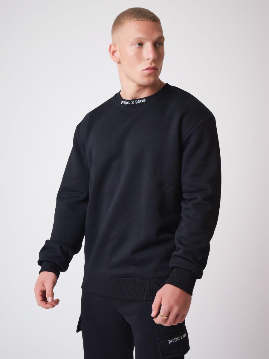 Gothic print Crew neck Sweatshirt