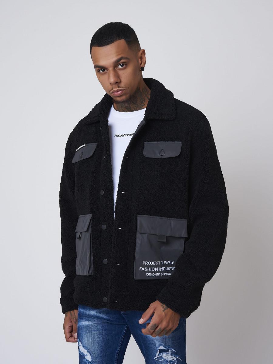 Sheepskin wool effect Jacket