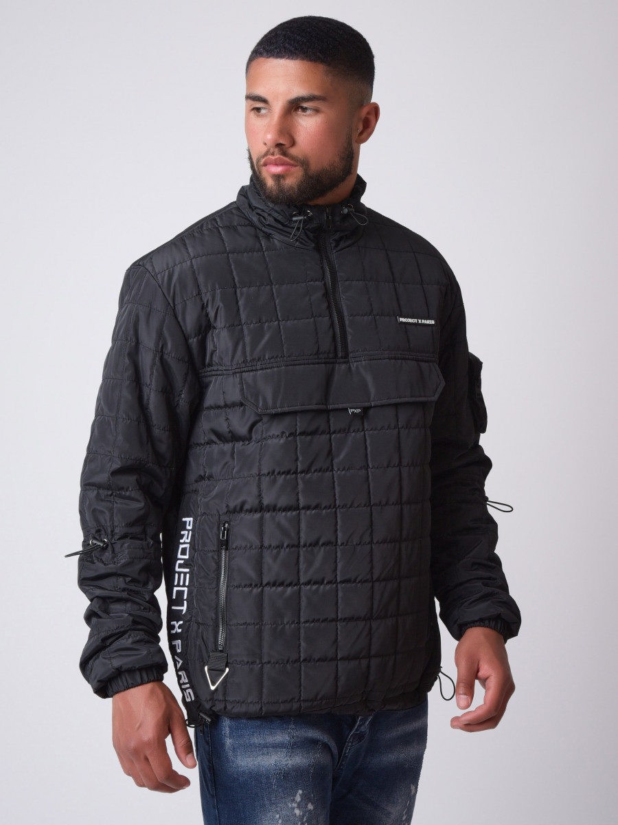 Square quilted pull-on jacket