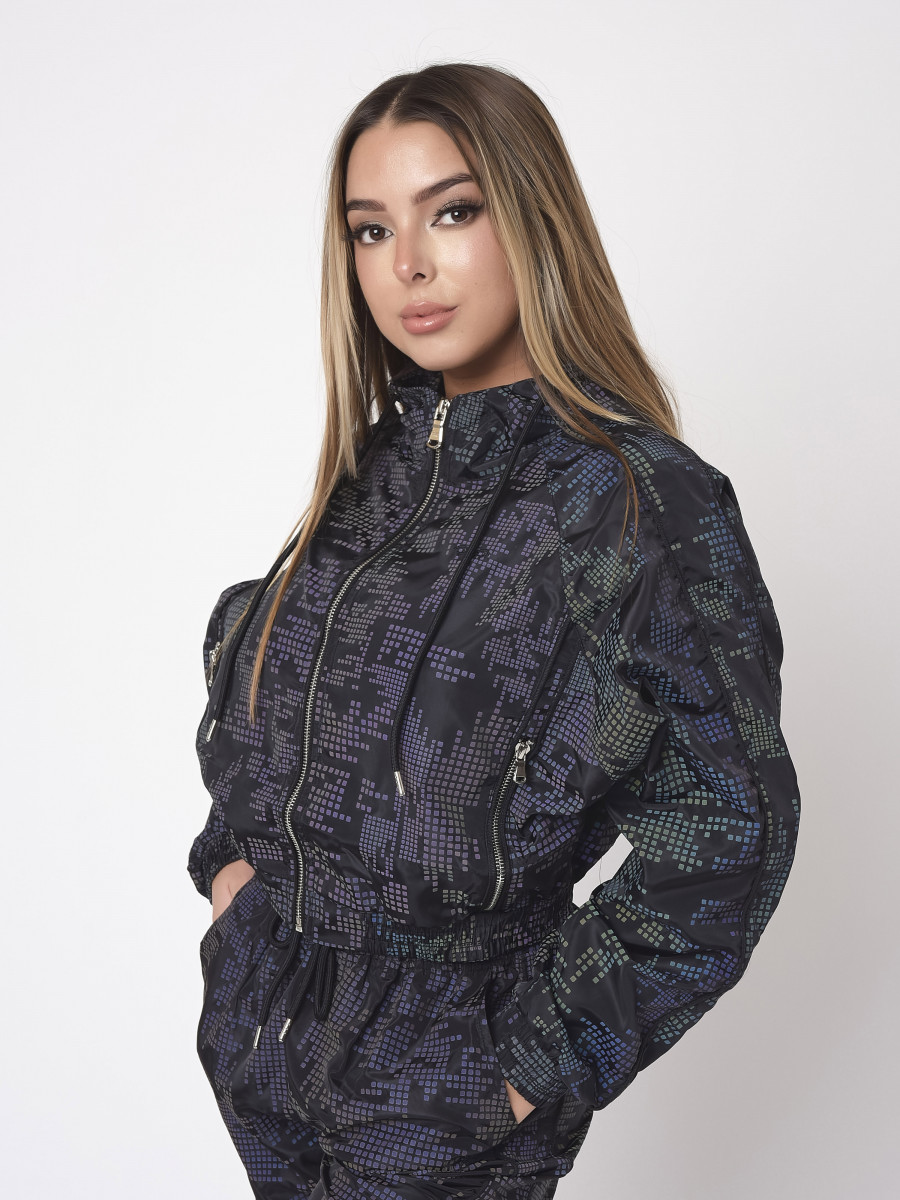 Pixel reflect printed jacket
