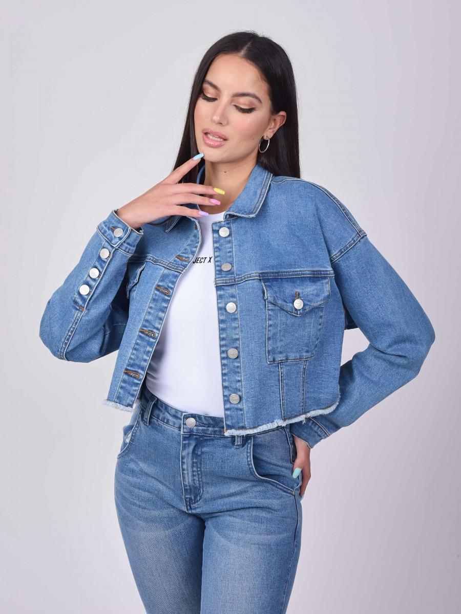 Basic Blue short Denim Jacket