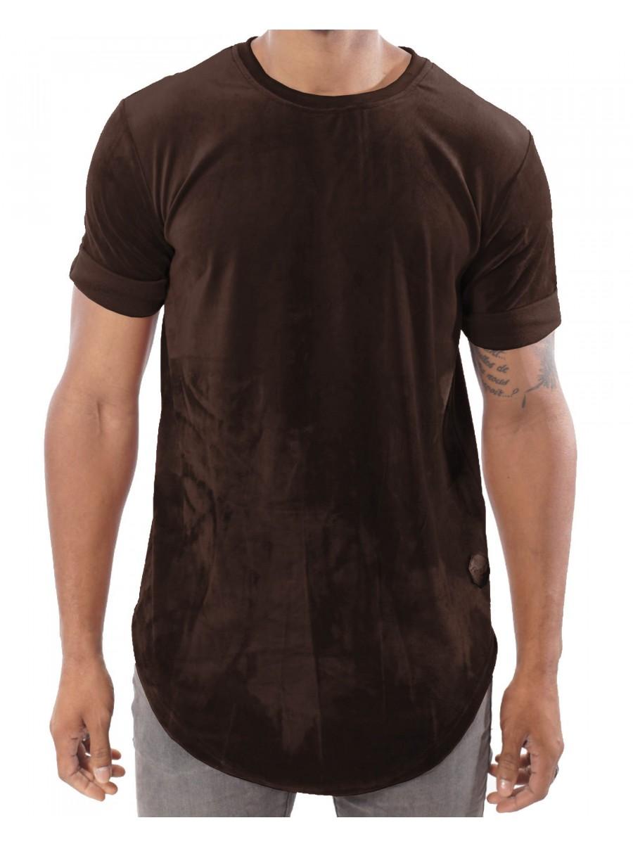 Velour Oversized T-Shirt