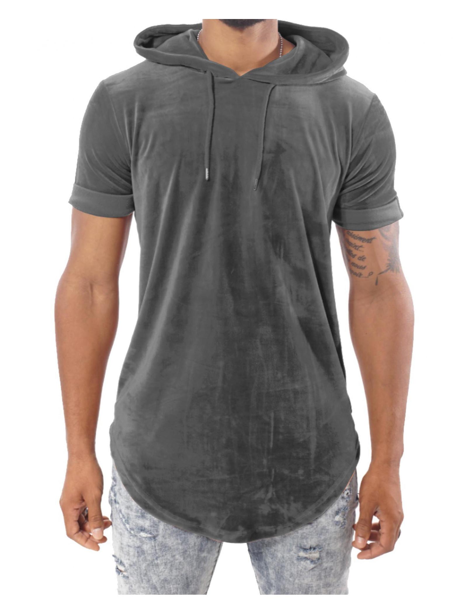tee shirt capuche en velours homme project x paris 88161136. Black Bedroom Furniture Sets. Home Design Ideas