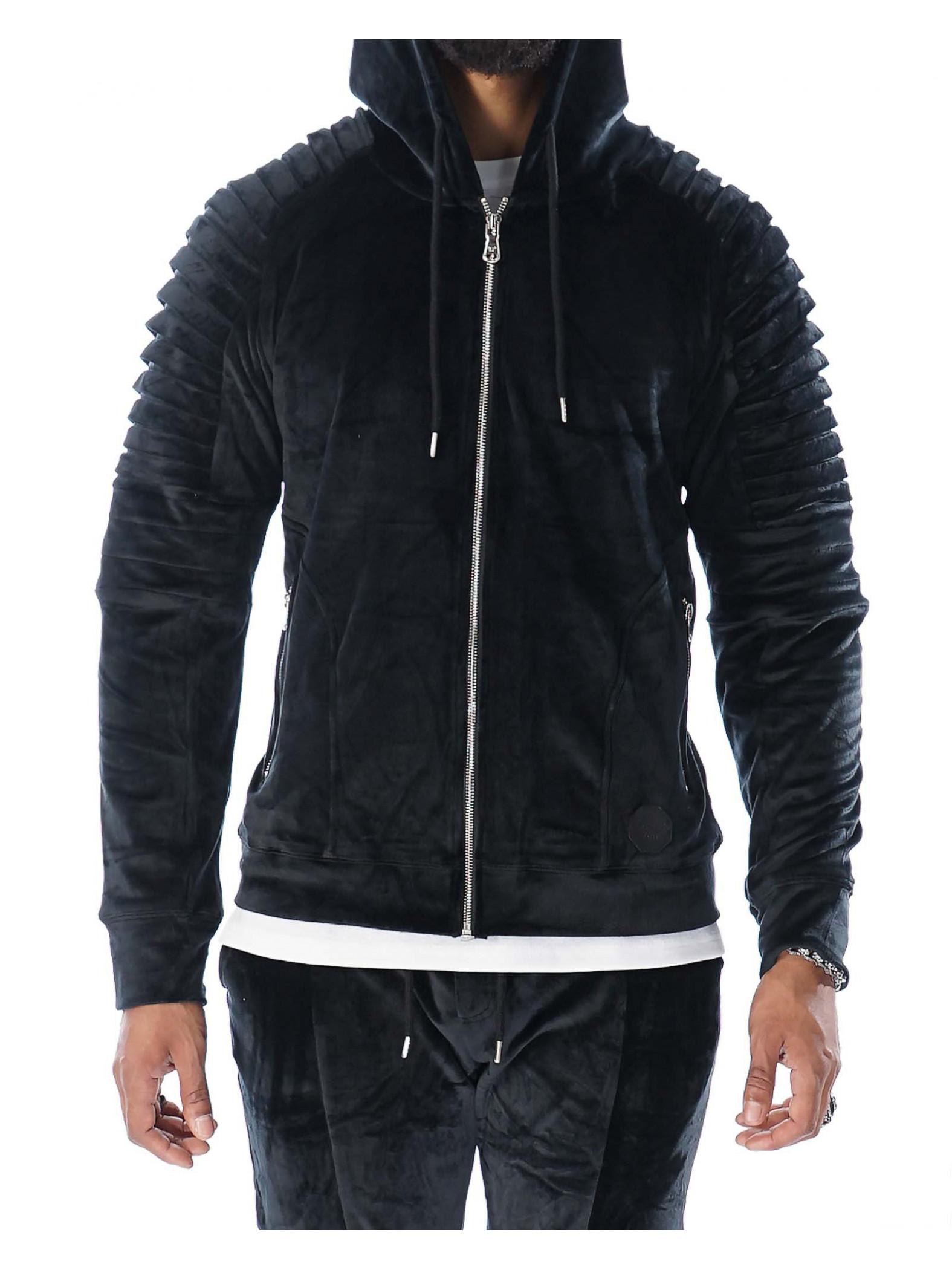 hoodie zipp en velours homme project x paris 88162218. Black Bedroom Furniture Sets. Home Design Ideas