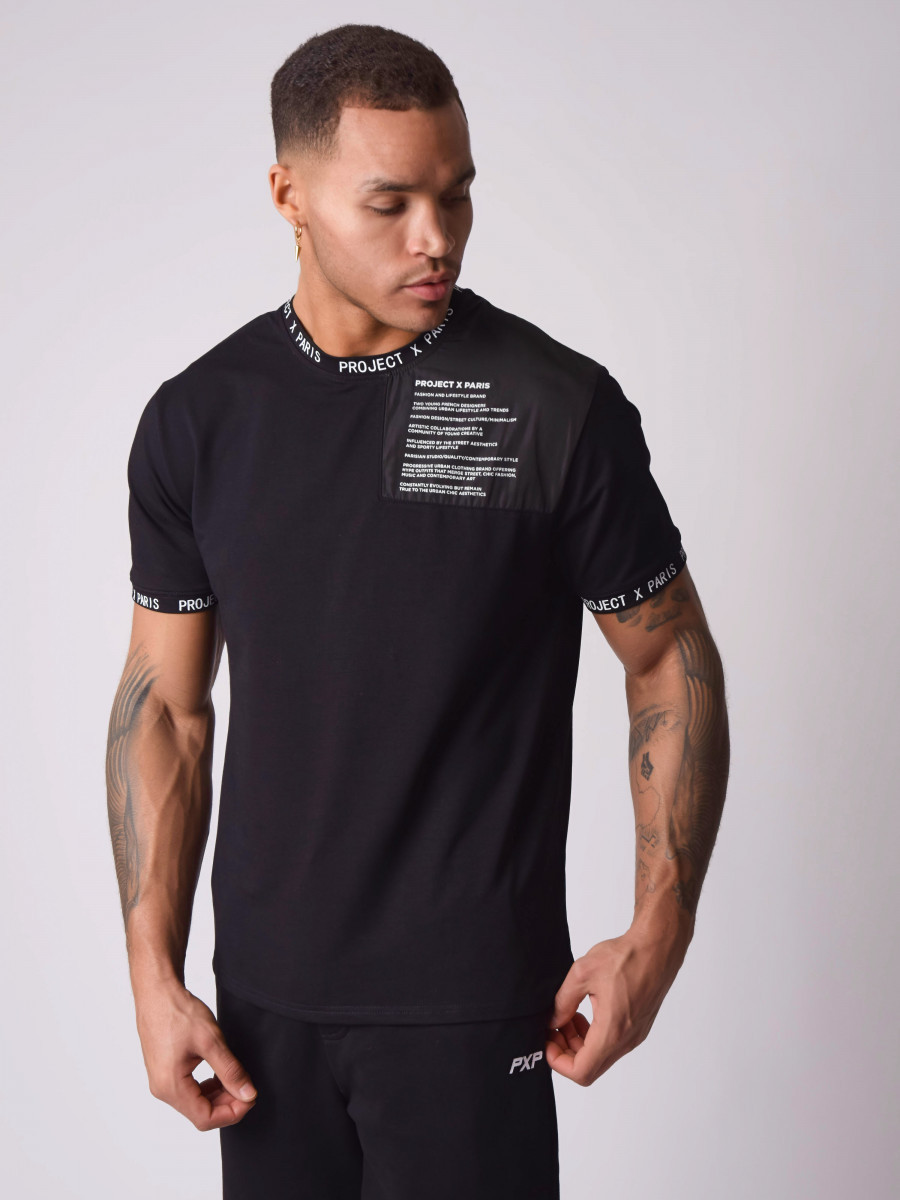 T-shirt with text message Yoke