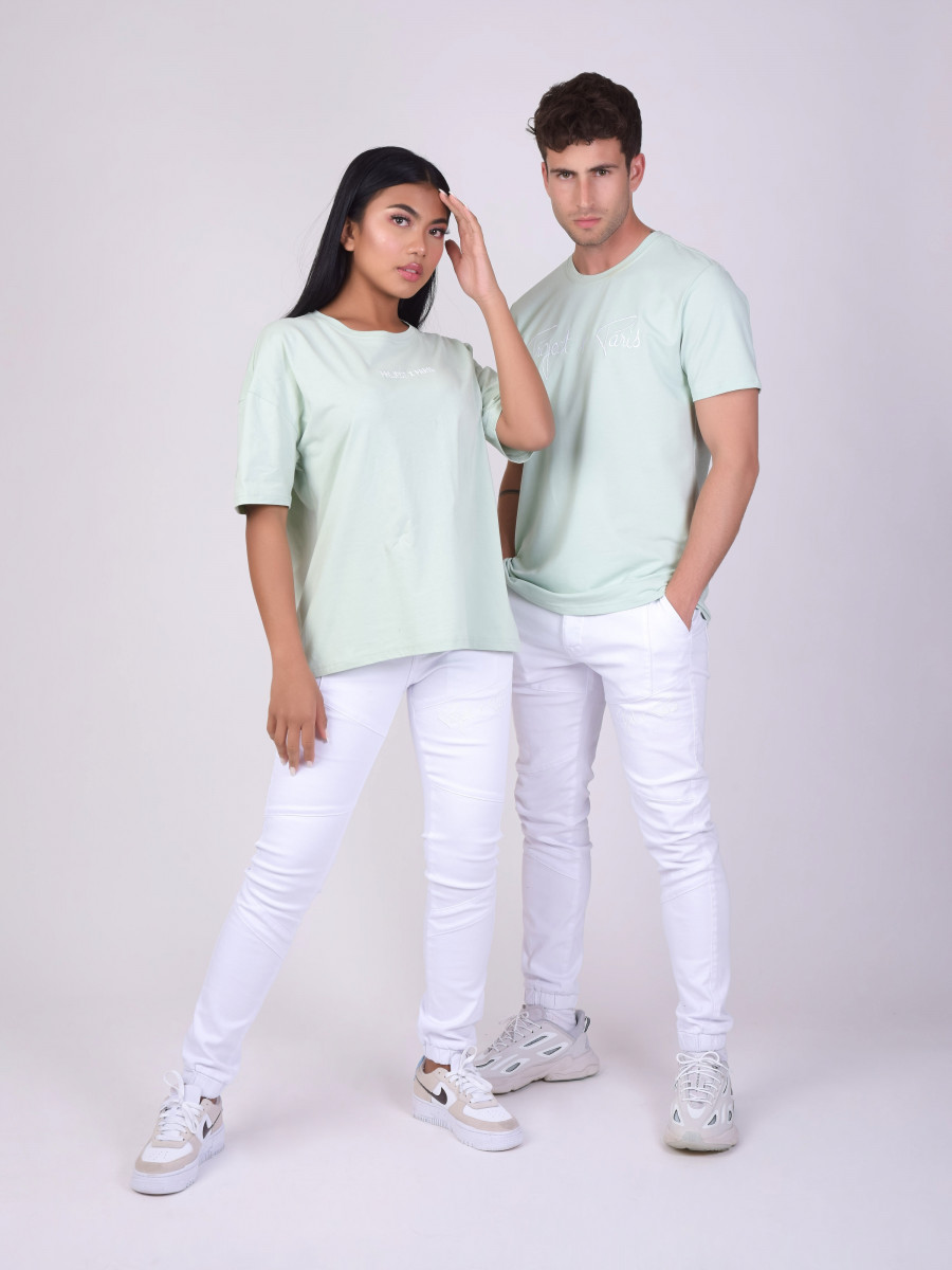 Pantalon skinny basic coutures apparentes