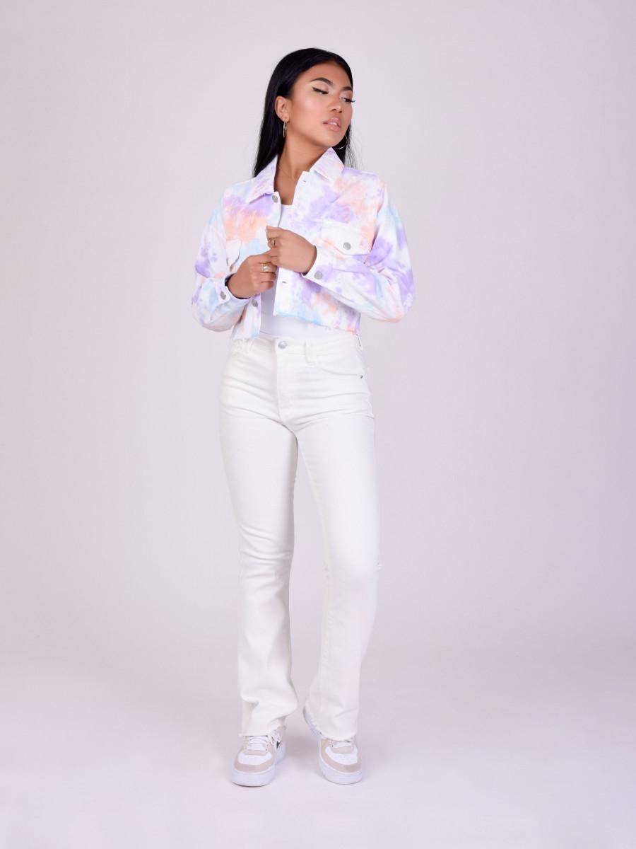 Tie & Dye Short Denim Jacket