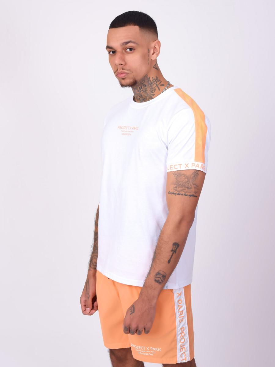 Tee-shirt bande coloré