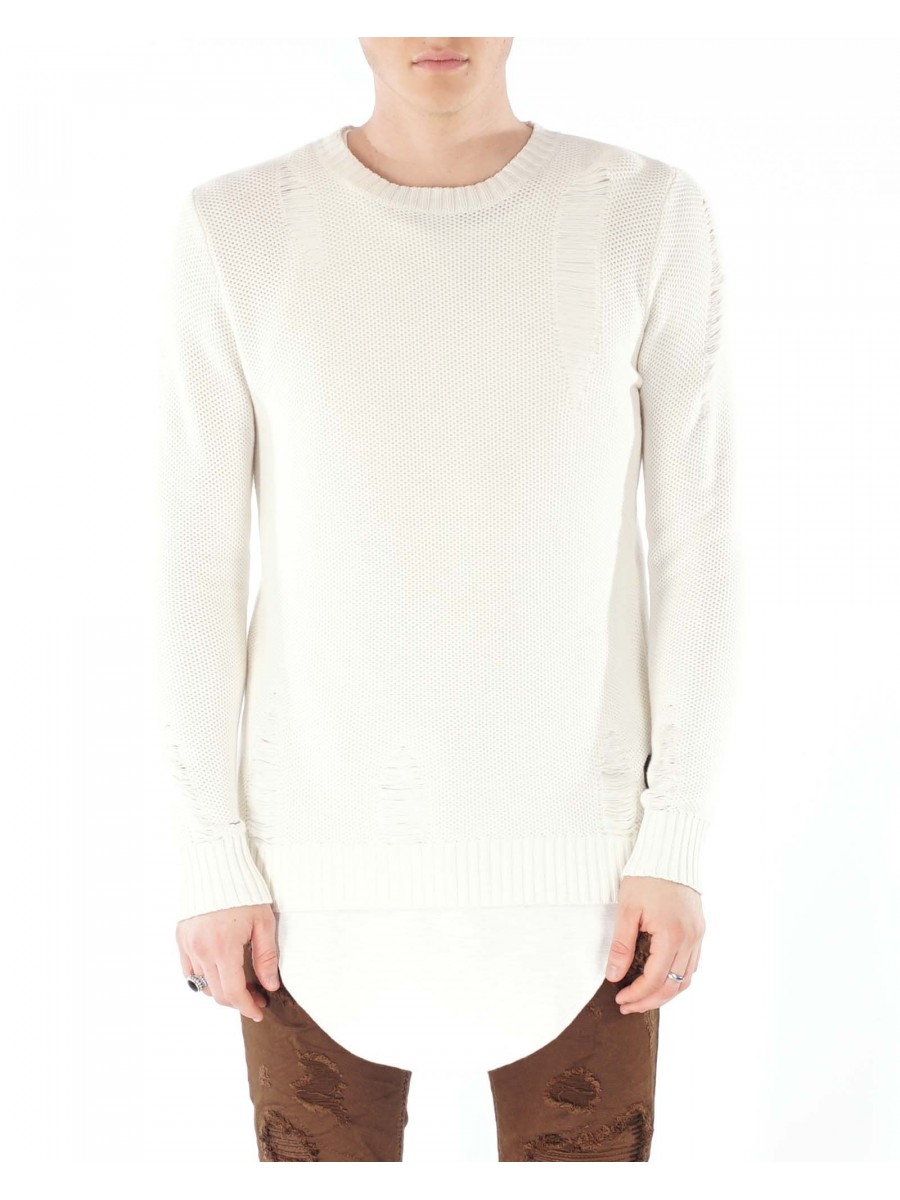 Lightweight Sweater With Rips