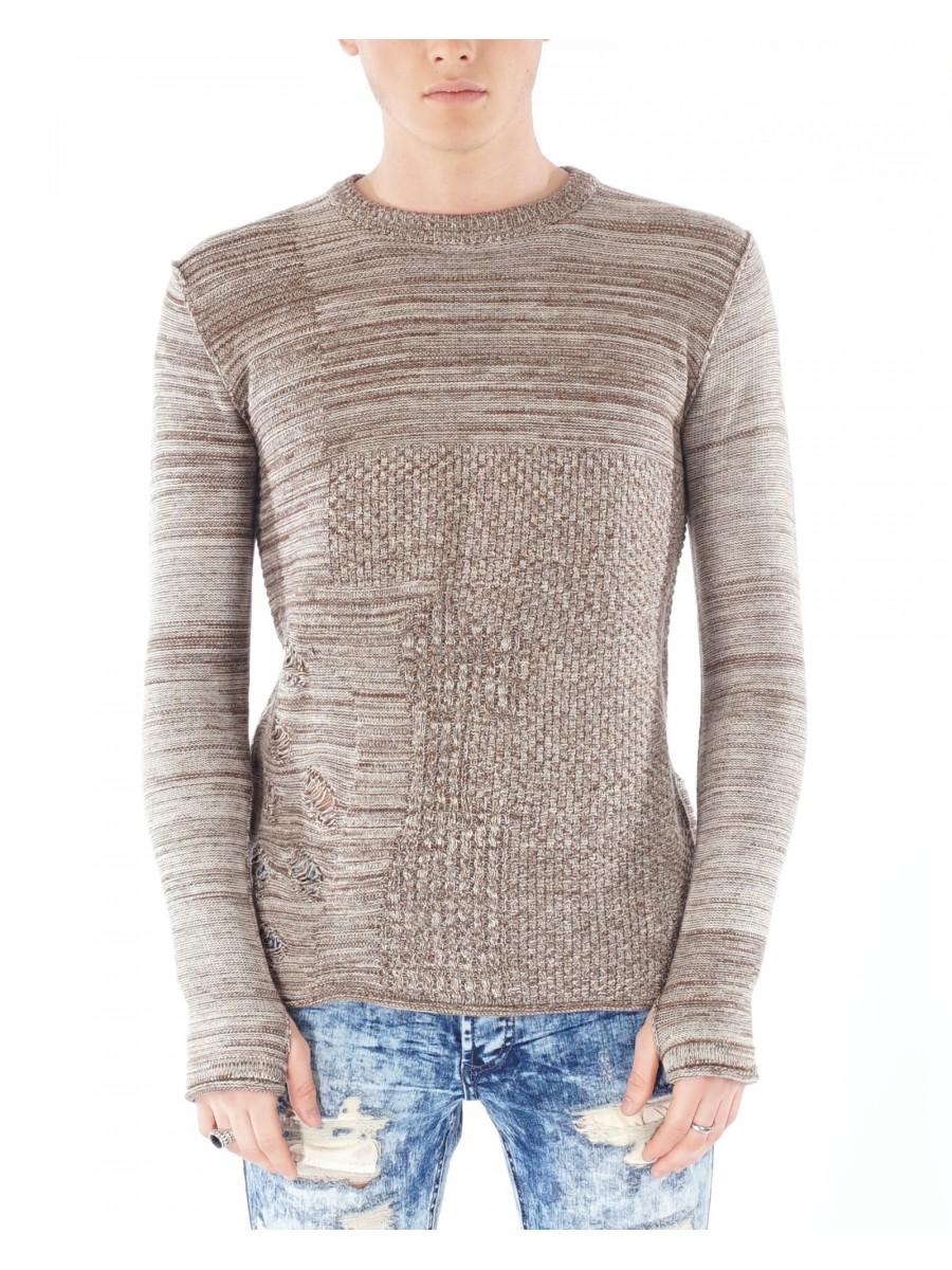 2cdf4ecec9f Men s Distressed Lightweight Sweater Project X Paris