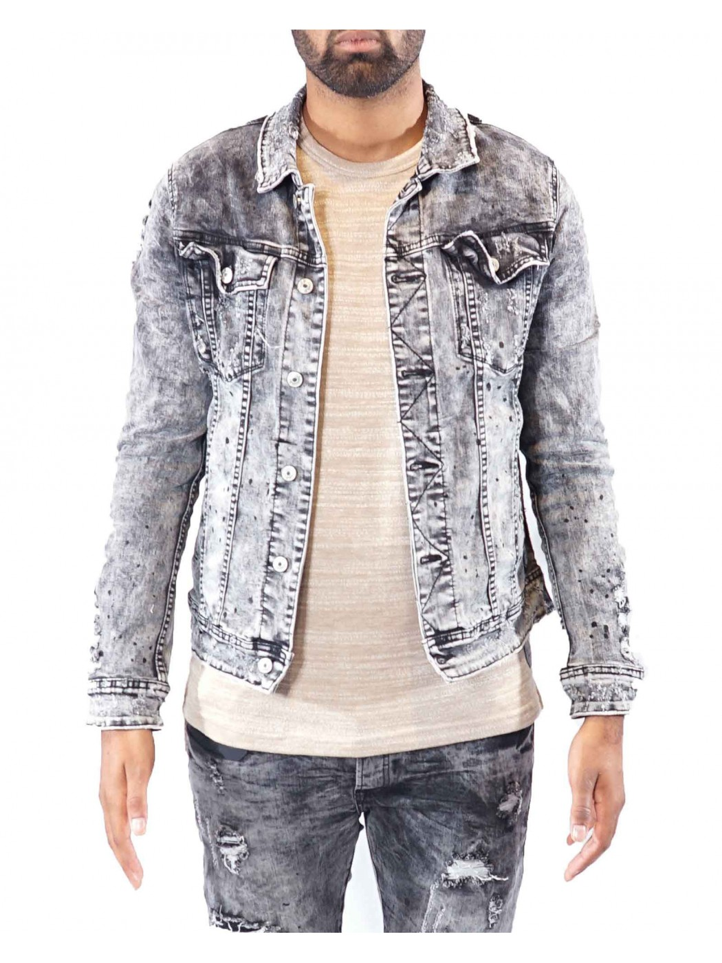 9a35ecaeb0e31 Men's Denim Jacket Project X Paris