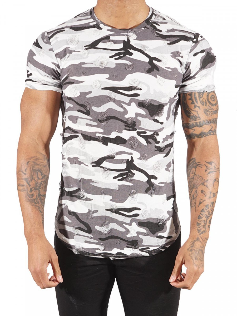 tee shirt camouflage homme project x paris 88171155. Black Bedroom Furniture Sets. Home Design Ideas