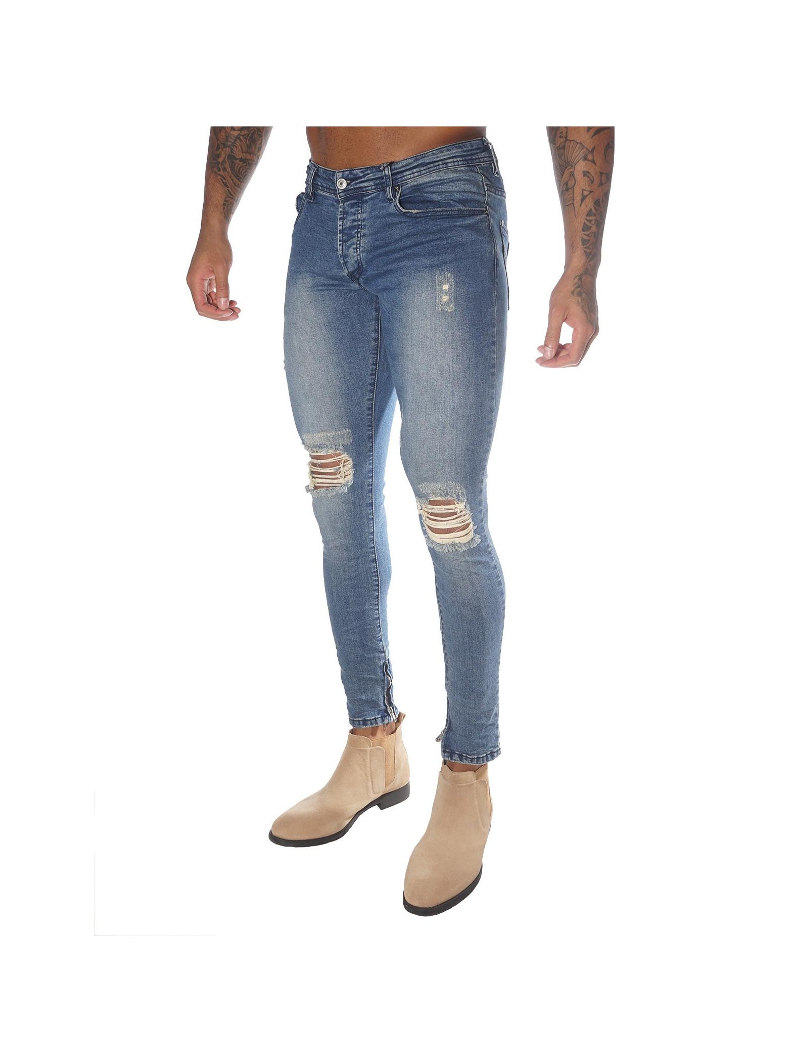 slim fit distressed jeans project x paris 88169963. Black Bedroom Furniture Sets. Home Design Ideas