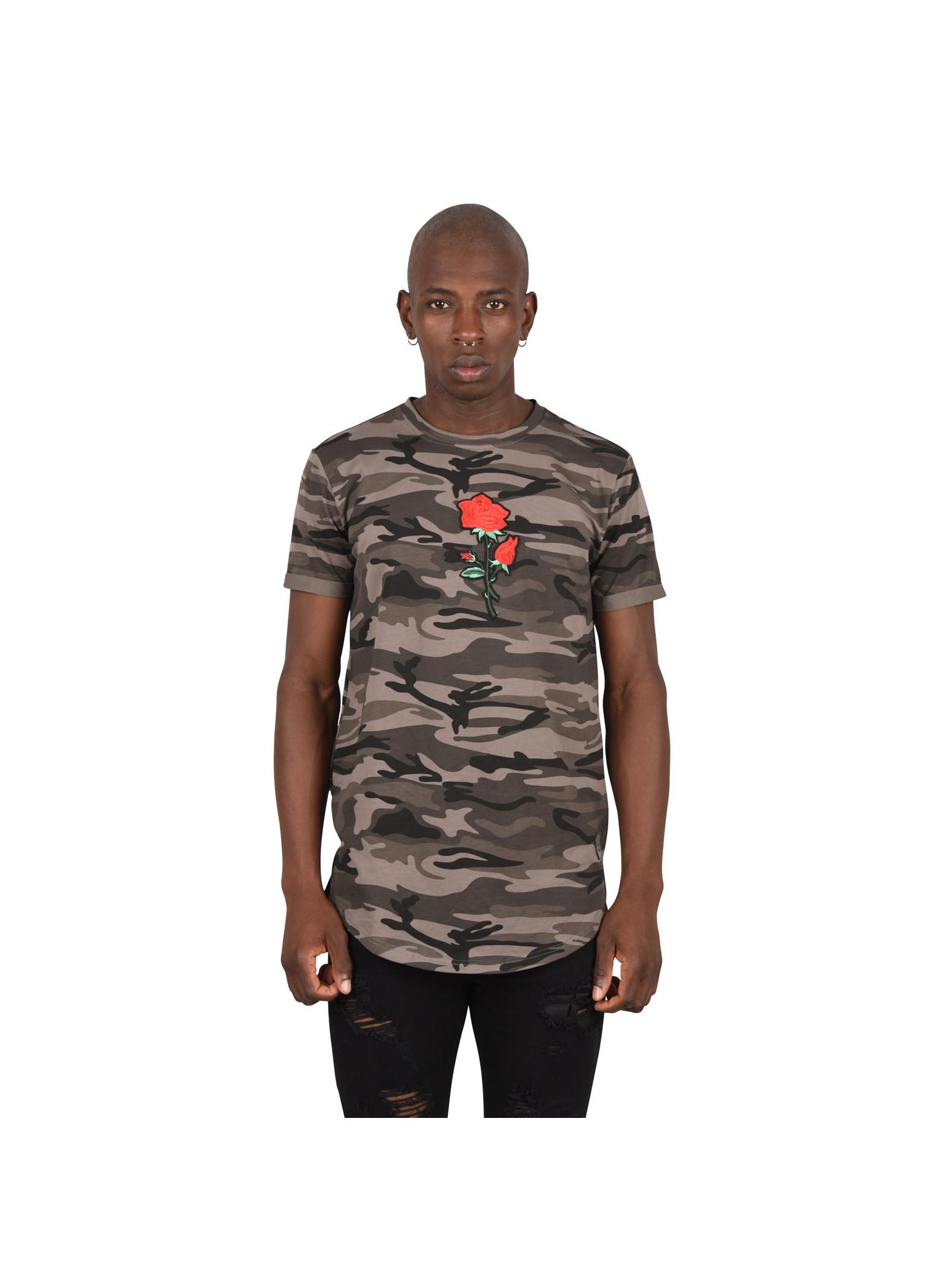 tee shirt motif camo brod rose homme project x paris. Black Bedroom Furniture Sets. Home Design Ideas