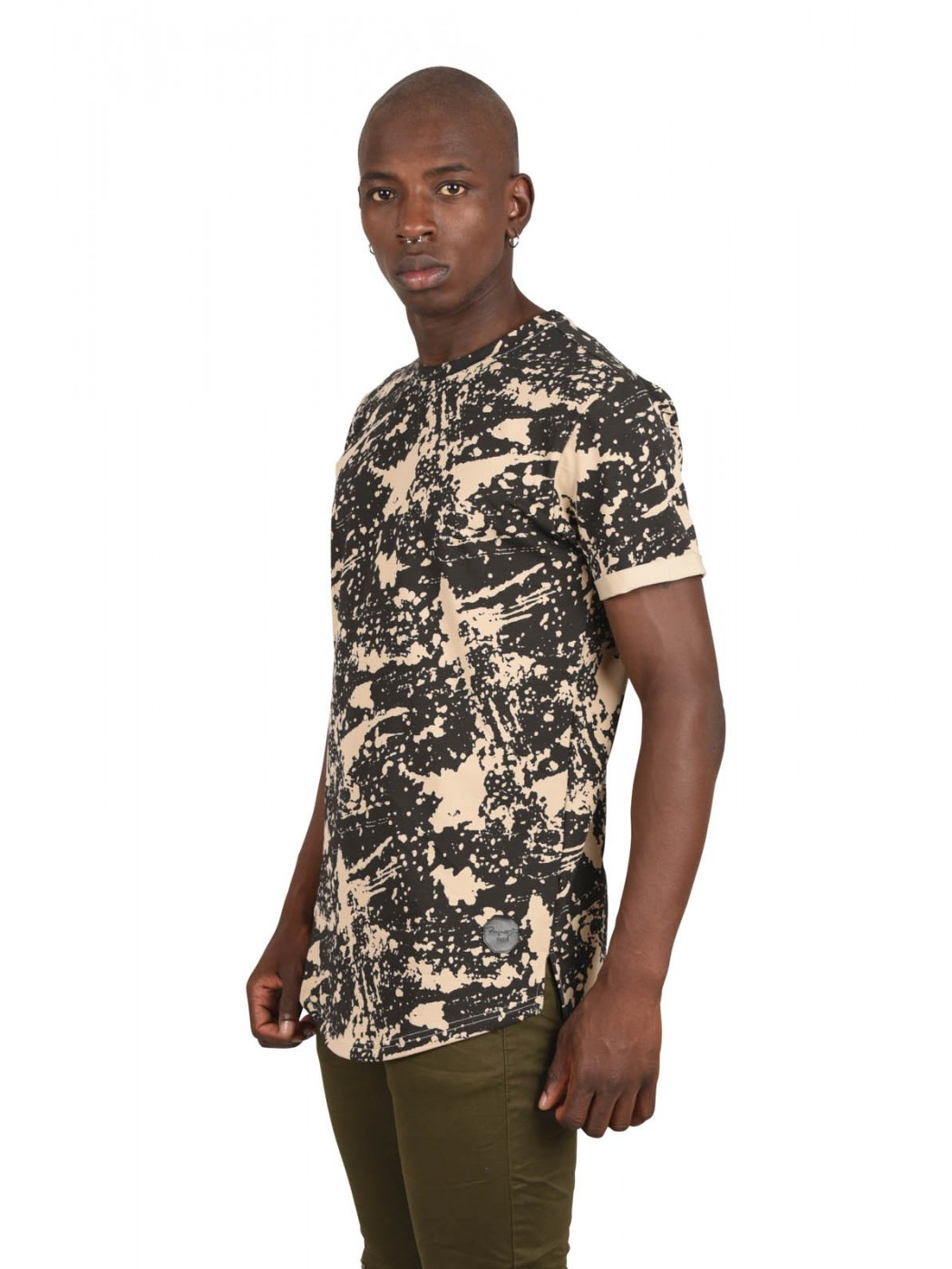 b467906fc80 Men s Longline T-Shirt with Splatter Wash Print Project X Paris
