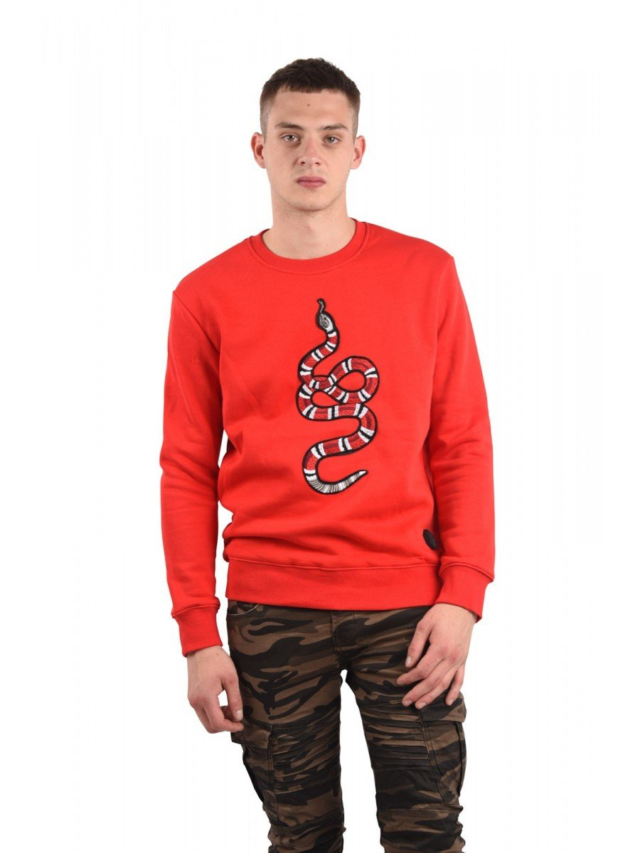 Sweatshirt with SNAKE Patch