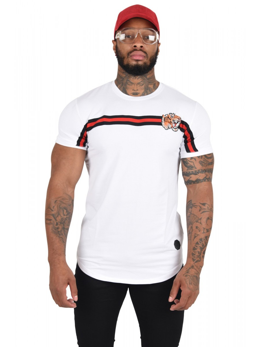 T-Shirt with Tiger Patch