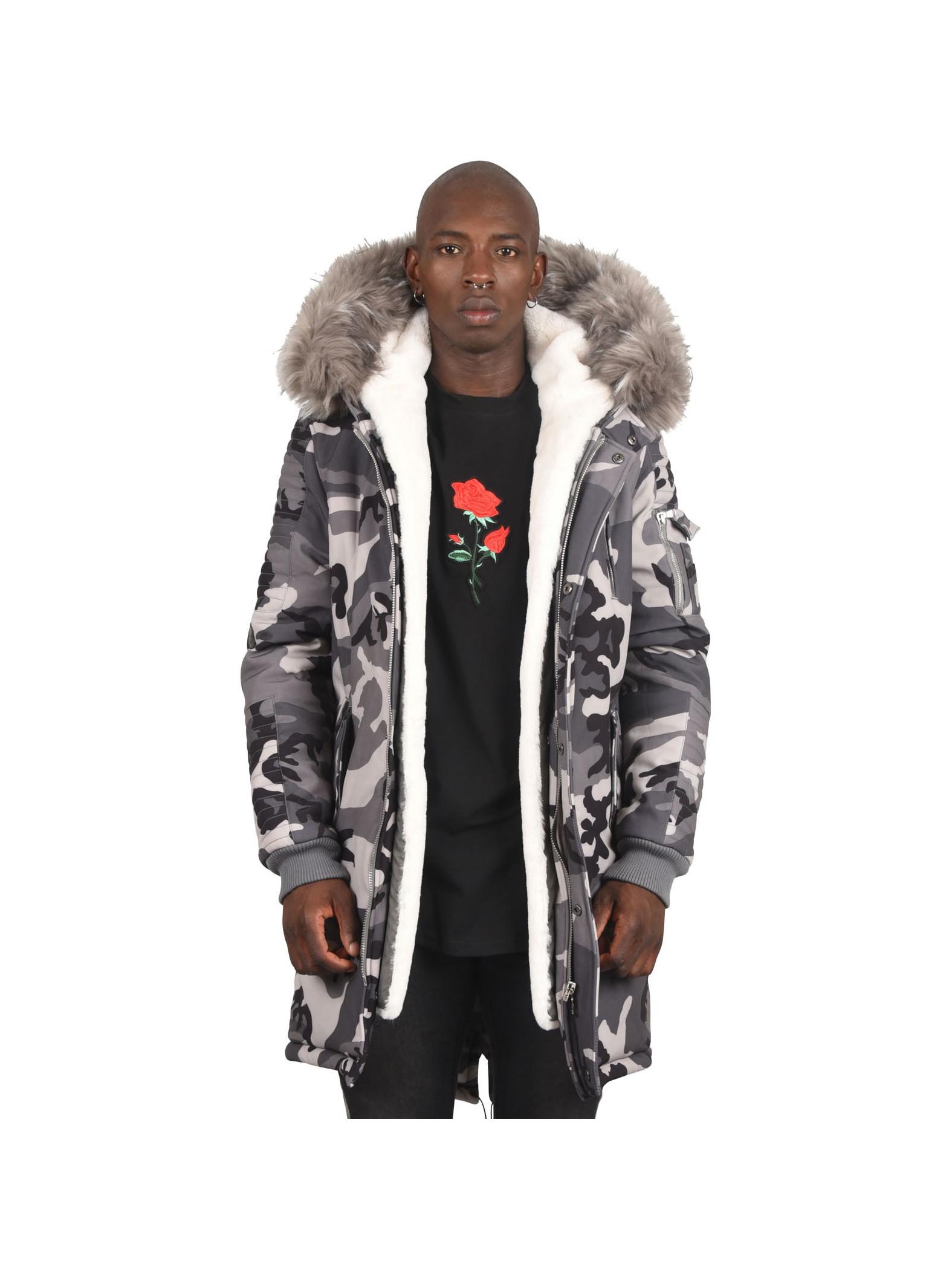 Parka Jacket With Camo Print Project X Paris