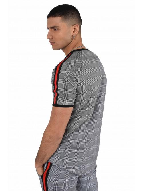 Tee-shirt motif pied de poule Homme Project X Paris