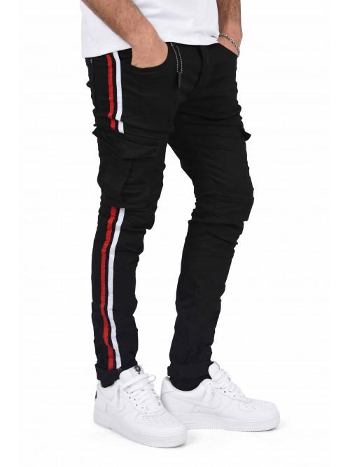 c9998a050845 Pantalon cargo doubles bandes bicolores Homme Project X Paris ...