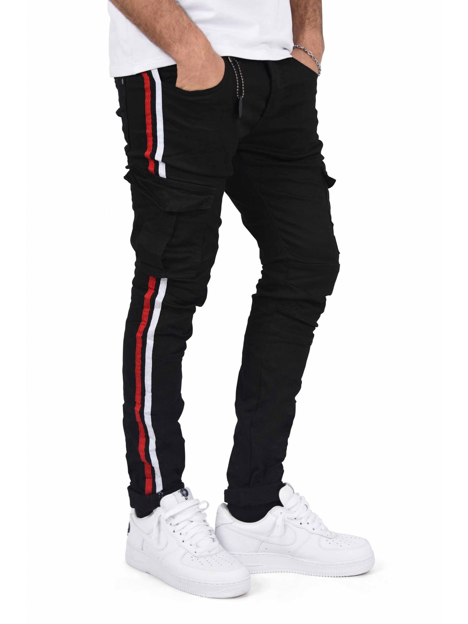 pantalon cargo doubles bandes bicolores homme project x paris. Black Bedroom Furniture Sets. Home Design Ideas